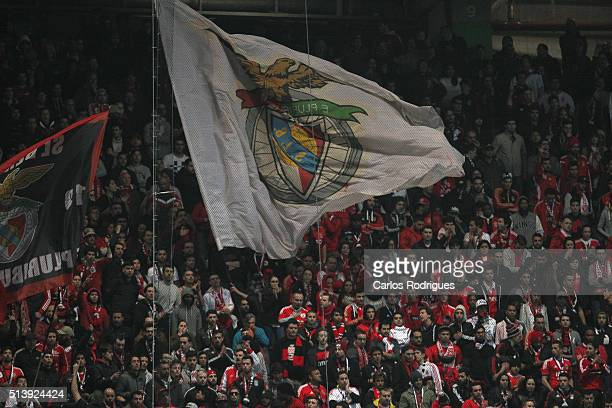 Benfica«s supporters during the match between Sporting CP and SL Benfica for the Portuguese Primeira Liga at Jose Alvalade Stadium on March 05 2016...