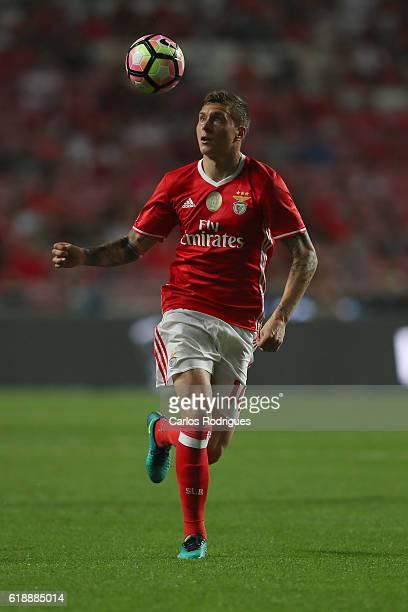 Benfica's Swedish defender Victor Lindelof during the Benfica v Pacos Ferreira Primeira Liga at Estadio da Luz on October 28 2016 in Lisbon Portugal