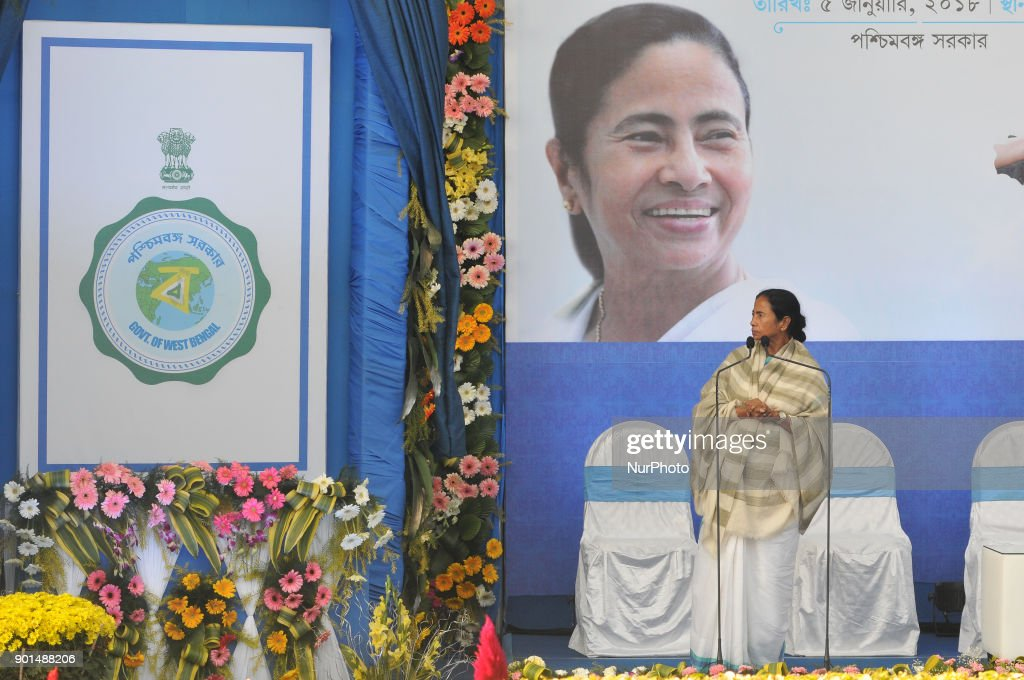 Bengal Chief Minister Mamata Banerjee launch 'Emblem ( Logo) of West bengal Government ' in a programe at Chief Minister office , Nabanna on January 05,2018 in Kolkata,India.