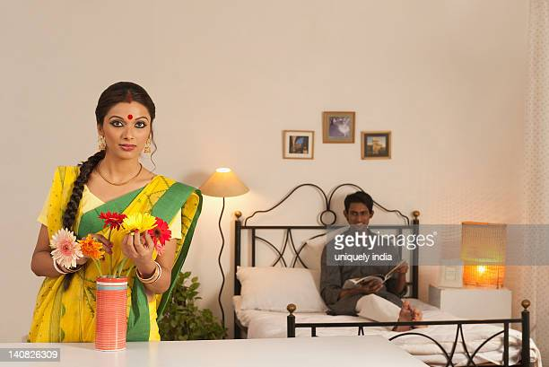 Bengali couple in the bedroom