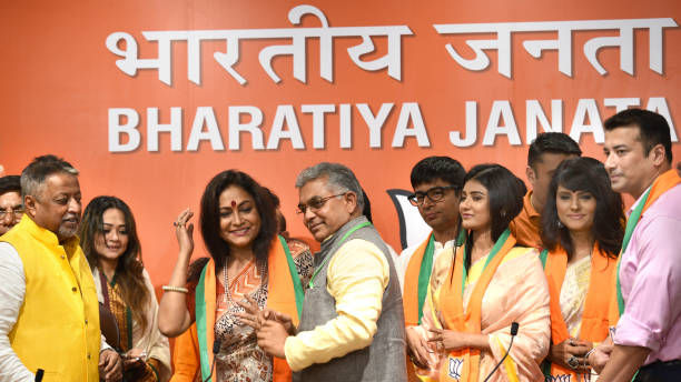 IND: Bengali Film And TV Actors Join Bharatiya Janata Party