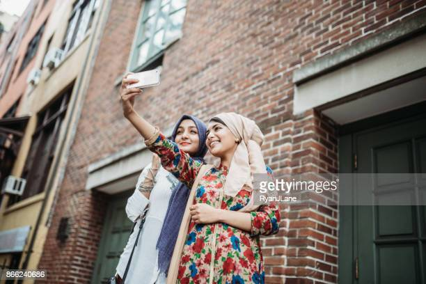 Bengali Muslim Young Women Taking Selfie