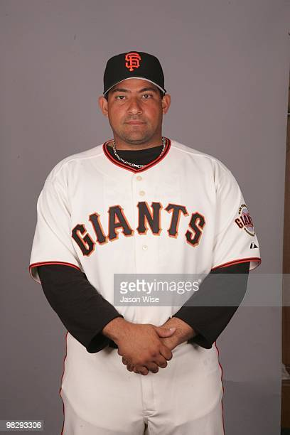 Bengie Molina of the San Francisco Giants poses during Photo Day on Sunday February 28 2010 at Scottsdale Stadium in Scottsdale Arizona