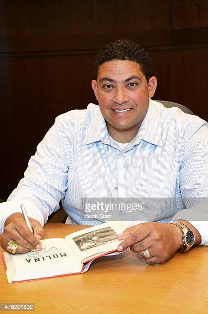 Bengie Molina signs copies of his memoir Molina at Barnes Noble bookstore at The Grove on June 6 2015 in Los Angeles California