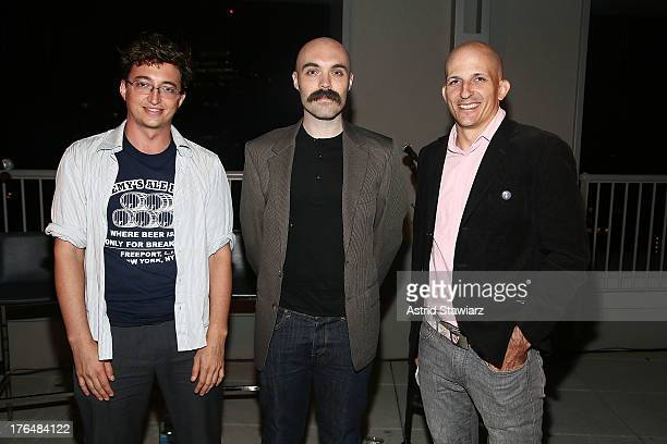 Benh Zeitlin David Lowery and Mark Elijah Rosenberg attend Rooftop Films Presents Benh Zeitlin and David Lowery In Conversation at W New York...