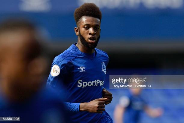 Beni Baningime of Everton during the Premier League 2 match between Everton U23 and Tottenham Hotspur U23 at Goodison Park on September 10 2017 in...