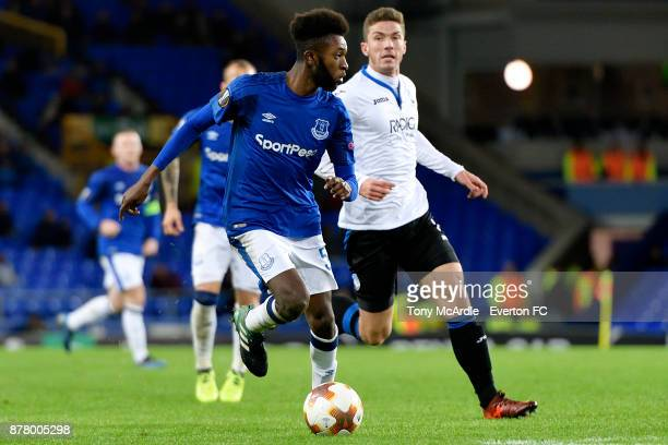 Beni Baningime of Everton during the UEFA Europa League group E match between Everton and Atalanta at Goodison Park on November 23 2017 in Liverpool...