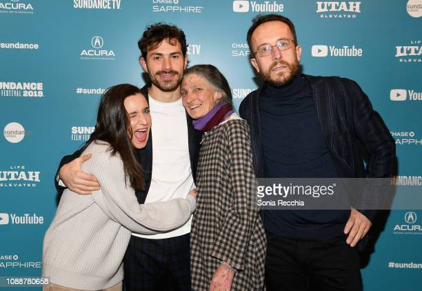 Beniamino Barrese Benedetta Barzini and Filippo Macelloni attend the The Disappearance Of My Mother Premiere during the 2019 Sundance Film Festival...