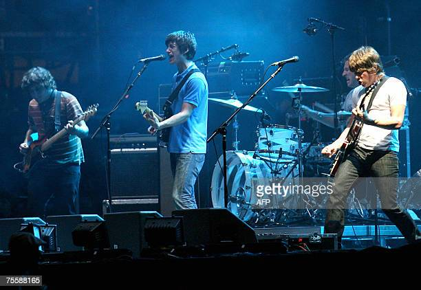 English indie rock band Arctic Monkeys perform during the international Festival of Benicassim 21 July 2007 AFP PHOTO / ALBERTO SAIZ