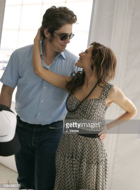 Benicio Del Toro and Brittany Murphy during 2005 Cannes Film Festival Miramax Luncheon Inside at The Majestic in Cannes France