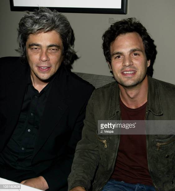 Benicio Del Toro and Mark Ruffalo during 2003 Toronto International Film Festival '21 Grams' AfterParty in Toronto Canada