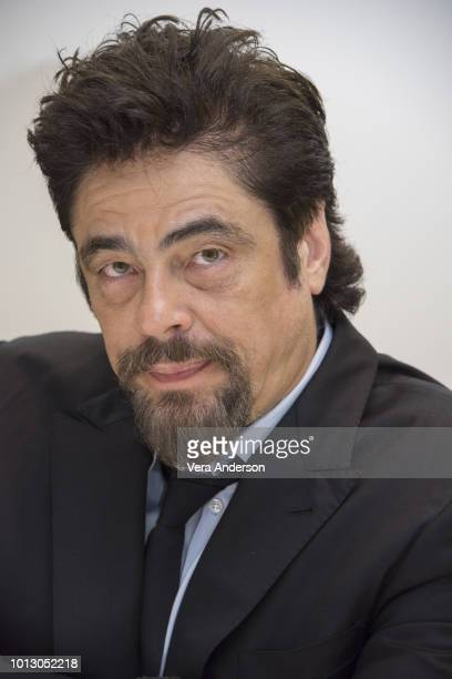 Benicio Del Toro at the Escape at Dannemora Press Conference at the Four Seasons Hotel on August 7 2018 in Beverly Hills California