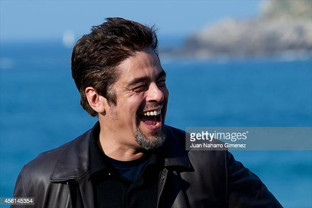 Benicio del Toro attends 'Escobar: Paradise Lost' photocall during 62nd San Sebastian International Film Festival at the Kursaal Palace on September...
