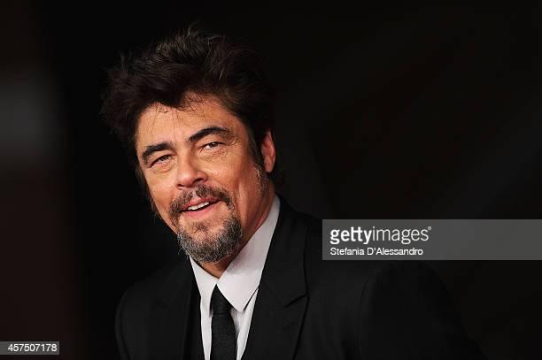 Benicio Del Toro attends 'Escobar Paradise Lost' Red Carpet during the 9th Rome Film Festival at Auditorium Parco Della Musica on October 19 2014 in...