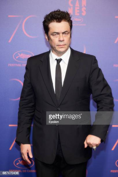 Benicio del Toro attends the 70th Anniversary Dinner during the 70th annual Cannes Film Festival at on May 23 2017 in Cannes France