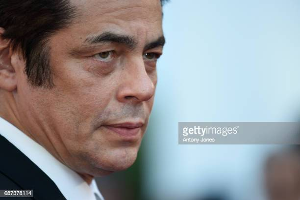 Benicio del Toro attends the 70th Anniversary of the 70th annual Cannes Film Festival at Palais des Festivals on May 23 2017 in Cannes France