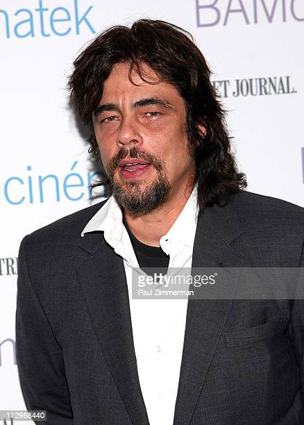 Benicio Del Toro attends the benefit screening of The Naked Island at BAM Rose Cinemas on April 22 2011 in the Brooklyn borough of New York City
