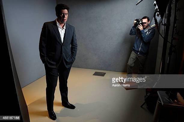 Benicio Del Toro attends the Guess Portrait Studio during 2014 Toronto International Film Festival on September 10 2014 in Toronto Canada