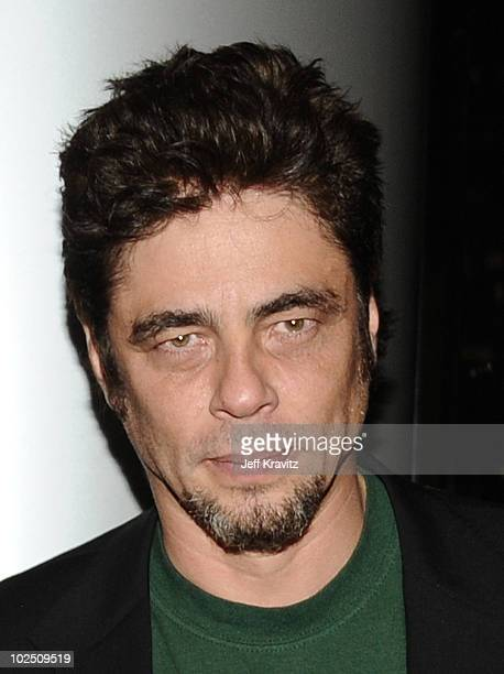 Benicio Del Toro attends the Los Angeles private screening of 'South of the Border' at CAA on June 28 2010 in Los Angeles California