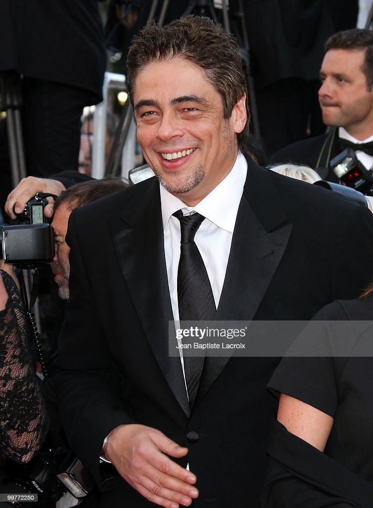 Benicio Del Toro attends the premiere of 'Biutiful' held at the Palais des Festivals during the 63rd Annual International Cannes Film Festival on May 17, 2010 in Cannes, France.