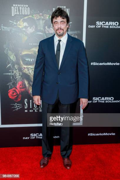 Benicio del Toro attends the premiere of Columbia Pictures' Sicario Day Of The Soldado at Regency Village Theatre on June 26 2018 in Westwood...