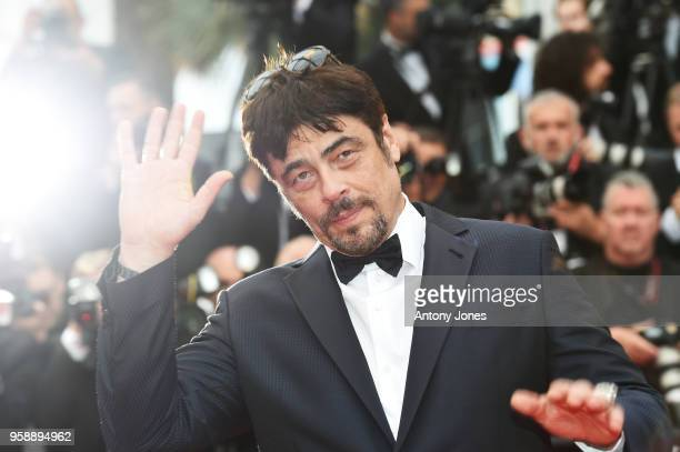 Benicio del Toro attends the screening of 'Solo A Star Wars Story' during the 71st annual Cannes Film Festival at Palais des Festivals on May 15 2018...