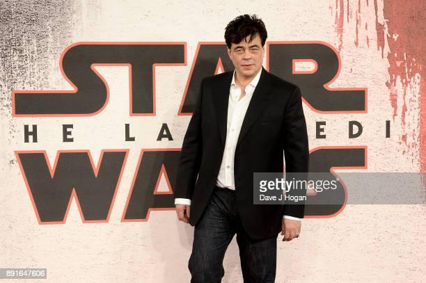 Benicio Del Toro attends the 'Star Wars The Last Jedi' photocall at Corinthia Hotel London on December 13 2017 in London England
