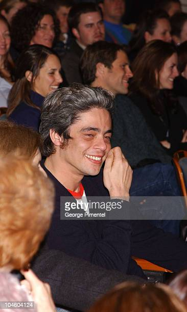 Benicio Del Toro during 2002 Sundance Film Festival PiperHiedsieck Tribute For Benicio Del Toro at The Egyptian Theater in Park City Utah United...