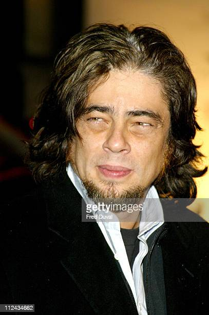 Benicio Del Toro during 2004 BAFTA Awards After Party at The Grosvenor House Hotel in London Great Britain