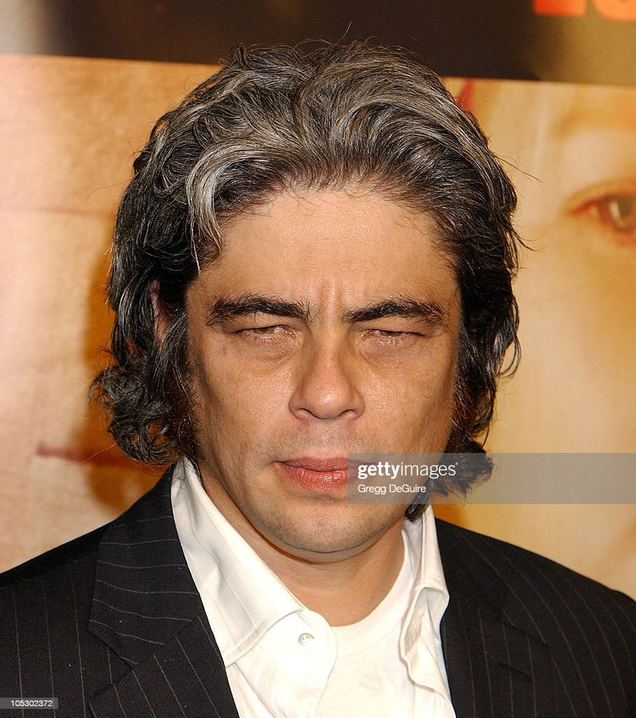 Benicio Del Toro during '21 Grams' Los Angeles Premiere at Academy Theatre in Beverly Hills, California, United States.