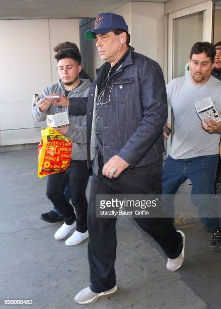 Benicio del Toro is seen on December 27 2017 in Los Angeles California