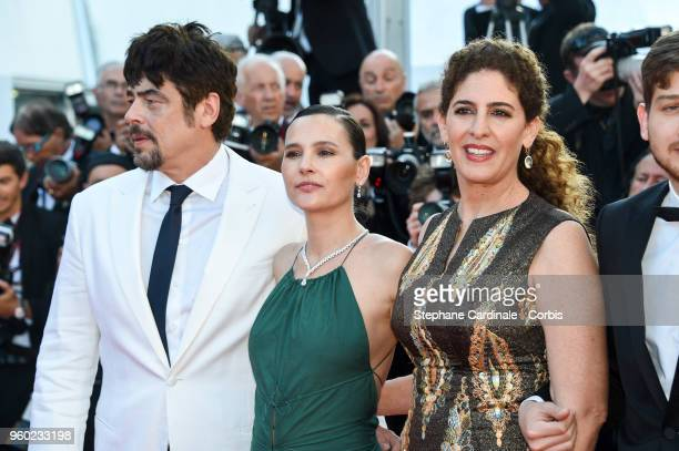 Benicio Del Toro Virginie Ledoyen Annemarie Jacir attend the Closing Ceremony and the screening of 'The Man Who Killed Don Quixote' during the 71st...