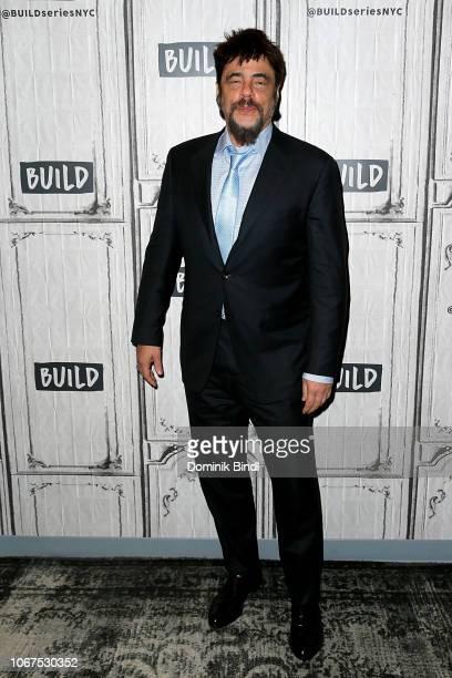Benicio Del Toro visits Build Series to discuss the Showtime series 'Escape at Dannemora' at Build Studio on November 14, 2018 in New York City.