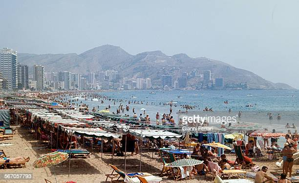 Benidorm 1985 one of the most important tourist beaches of Spain 17th August 1985 Benidorm Alicante Spain