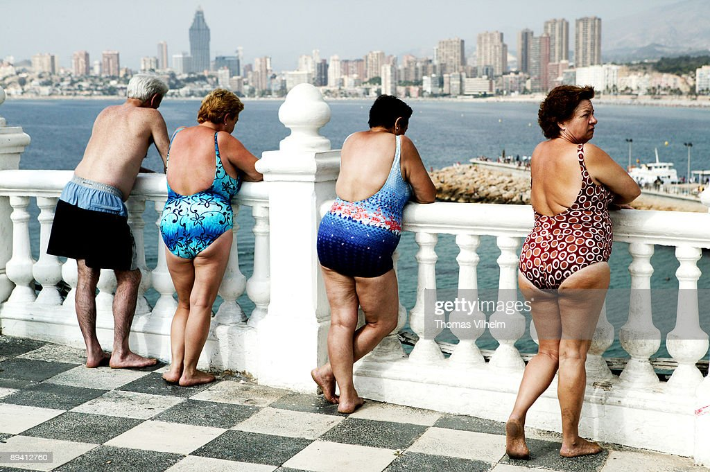 Benidorm Alicante Pensioners On Mirador Del Castillo Looking At News Photo Getty Images