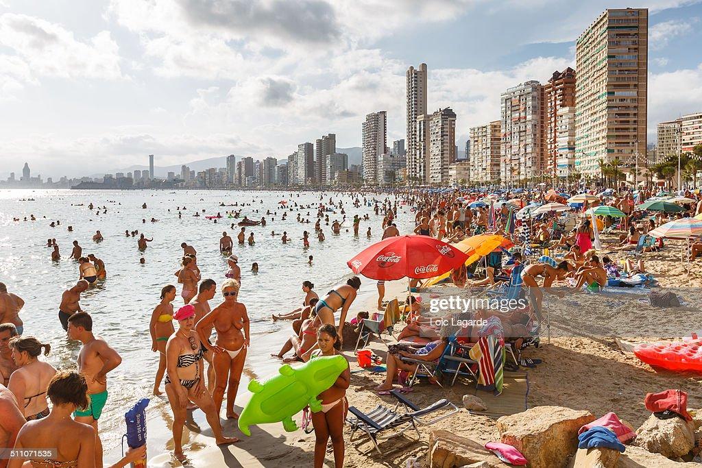 Benidorm Beach Spain August 2014