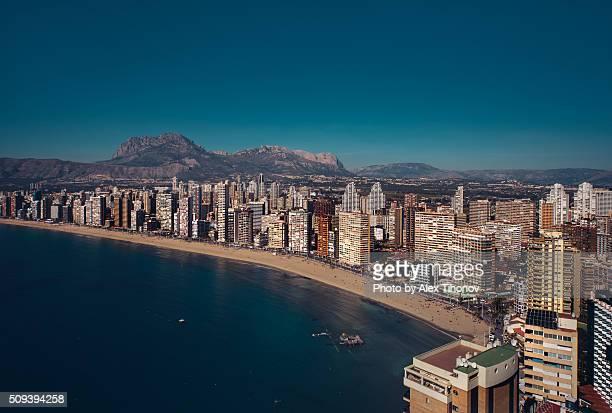 Benidorm coastline. Spain