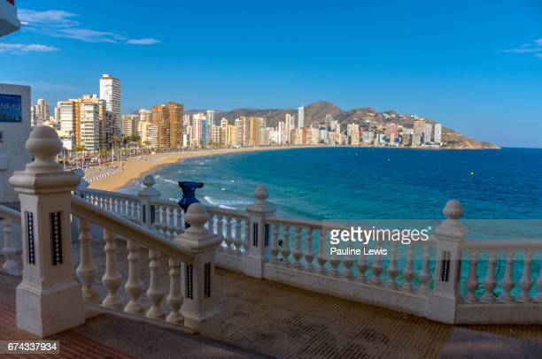 Benidorm New Town from Benidorm Old Town.