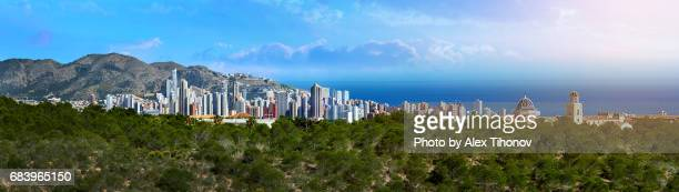 benidorm - valencia spain stock pictures, royalty-free photos & images