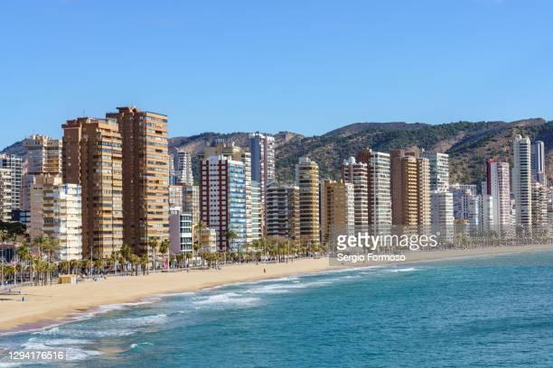 benidorm playa de levante, spain - 沿岸 ストックフォトと画像