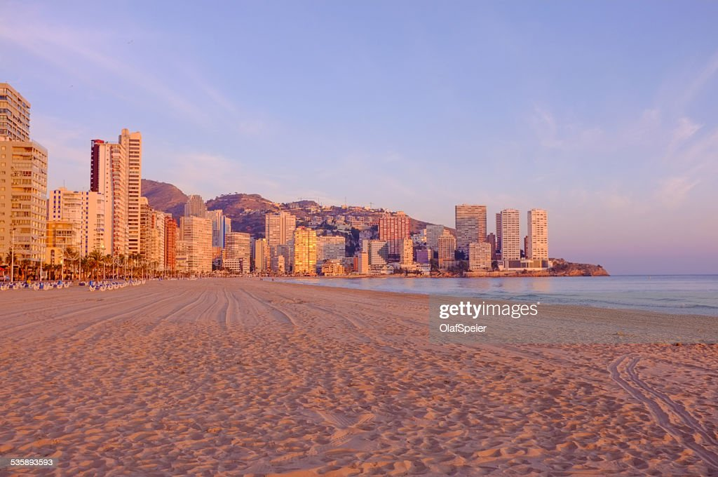 Benidorm town : Stock Photo