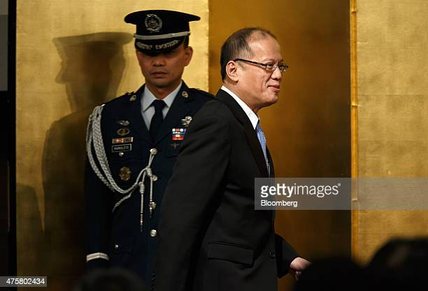 Benigno Aquino the Philippines' president arrives for an investment forum in Tokyo Japan on Thursday June 4 2015 Aquino yesterday said the situation...