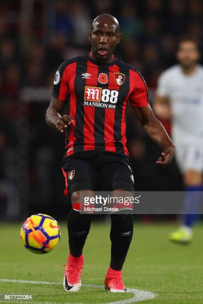 Benik Afobe of AFC Bournemouth during the Premier League match between AFC Bournemouth and Chelsea at Vitality Stadium on October 28 2017 in...