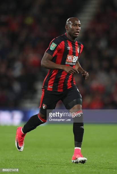 Benik Afobe of AFC Bournemouth in action during the Carabao Cup Third Round match between Bournemouth and Brighton and Hove Albion at Vitality...