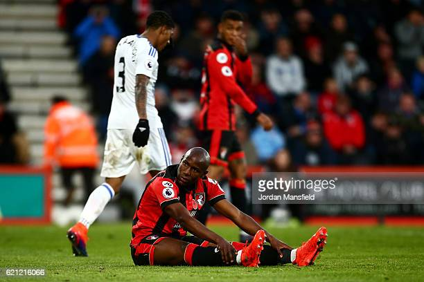 Benik Afobe of AFC Bournemouth reacts to a missed chance during the Premier League match between AFC Bournemouth and Sunderland at Vitality Stadium...