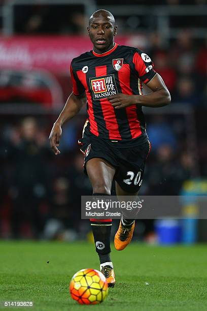 Benik Afobe of Bournemouth during the Barclays Premier League match between AFC Bournemouth and Southampton at the Vitality Stadium on March 1 2016...