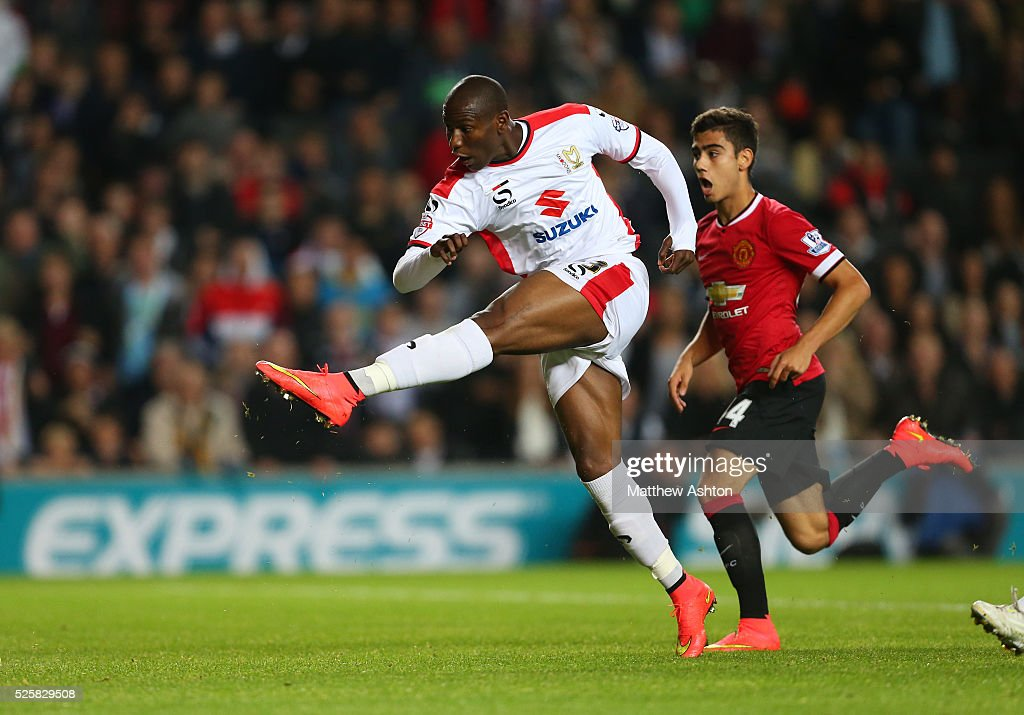 Benik Afobe Of MK Dons Scores A Goal To Make It 4-0 News
