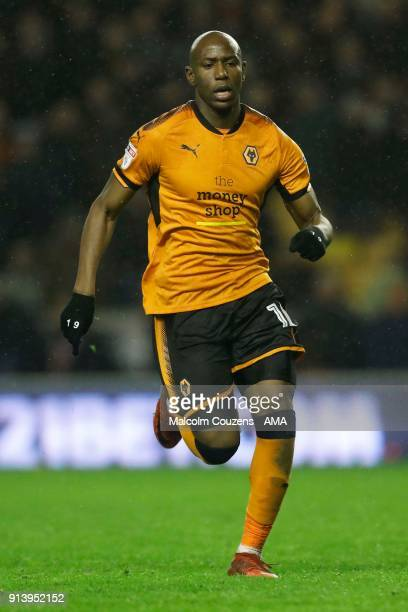 Benik Afobe of Wolverhampton Wanderers during the Sky Bet Championship match between Wolverhampton and Sheffield United at Molineux on February 3...