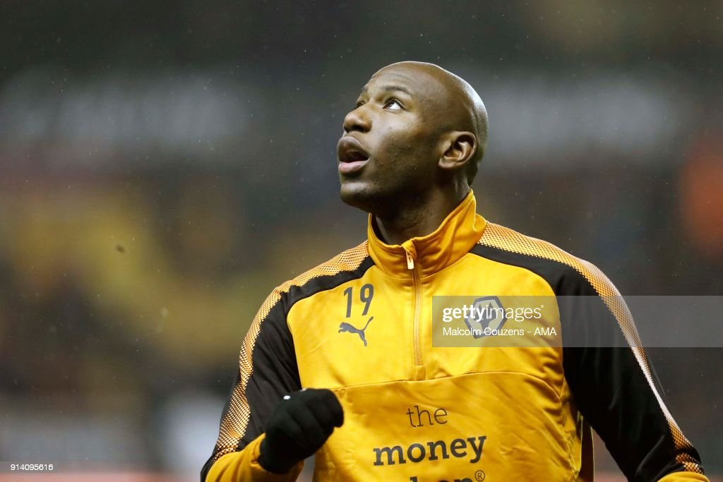 Benik Afobe of Wolverhampton Wanderers during the Sky Bet Championship match between Wolverhampton and Sheffield United at Molineux on February 3, 2018 in Wolverhampton, England.