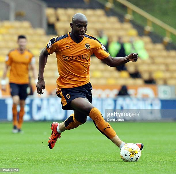 Benik Afobe of Wolverhampton Wanderers in action during the Sky Bet Championship match between Wolverhampton Wanderers and Middlesborough at Molineux...